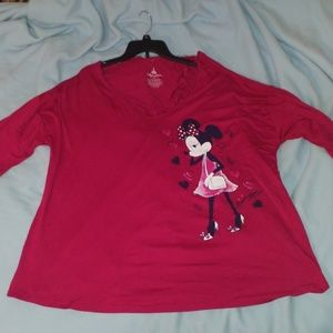 Official Disney plus size 3x Minnie Mouse top